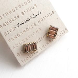 Anthropologie Mini Crystal Studs